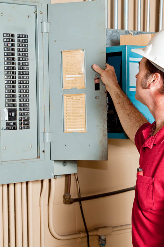 Commercial electrical companies calgary - examine electrical panel