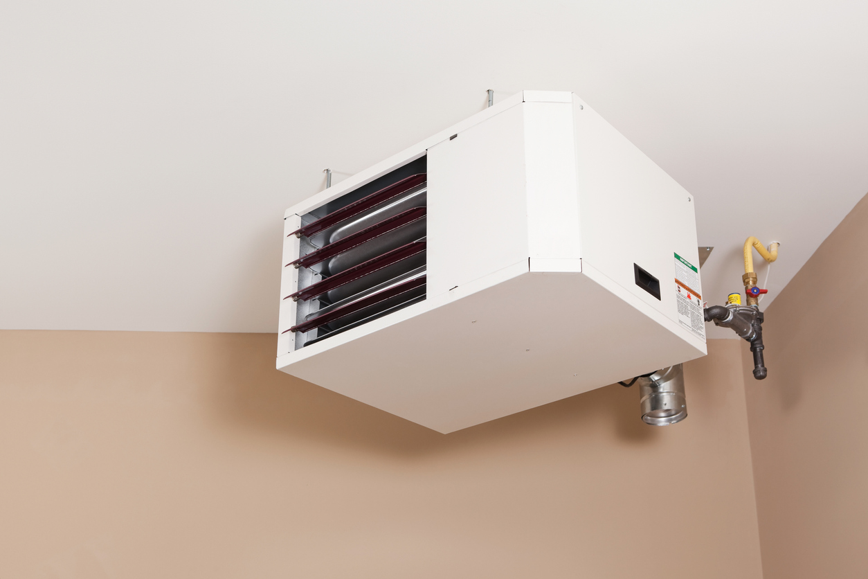 Forced Air Natural Gas Ceiling Mounted Garage Heater