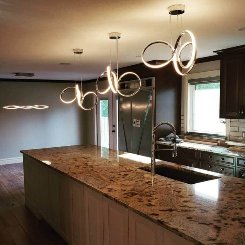 electrician calgary - elegant kitchen lighting