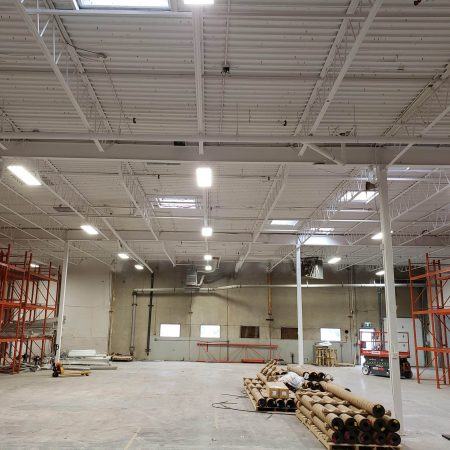 Commercial electrical companies calgary - warehouse lighting